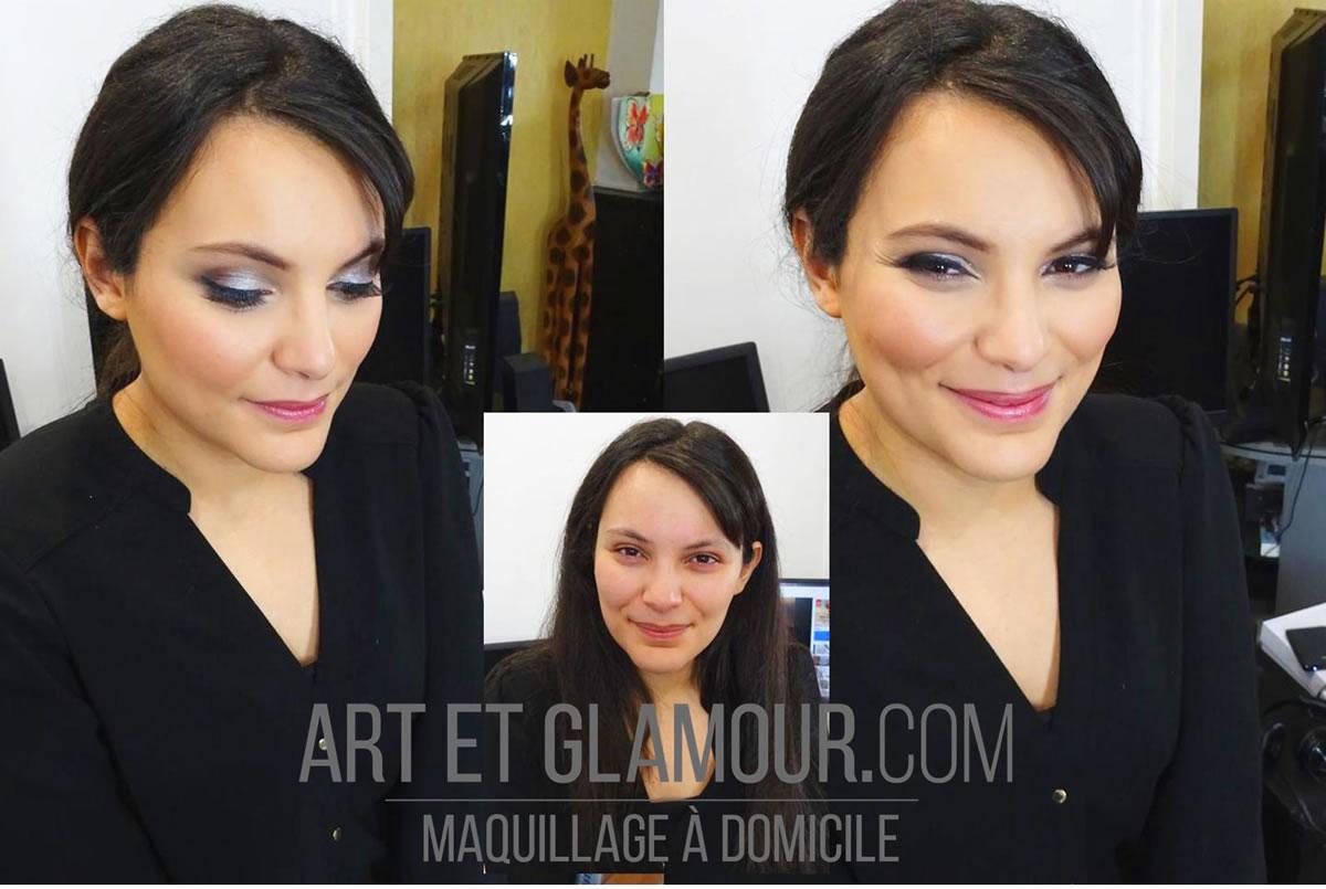 Avant / Après make up maquillage Lyon
